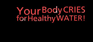 Quotes Picture: your body cries for healthy water!
