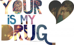 heart, kesha, quote, typography, your love is my drug