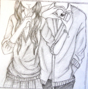 cute couple by greengirl911 fan art traditional art drawings other ...