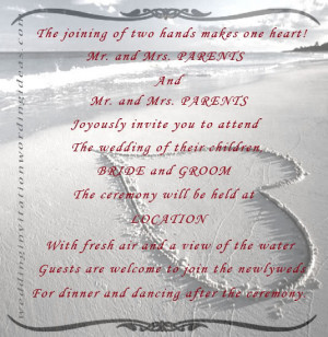 hope the above ten beach wedding invitation wordings were what you ...