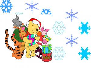 winnie the pooh christmas clipart