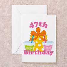 47th Birthday Party Greeting Cards (Pk of 10)