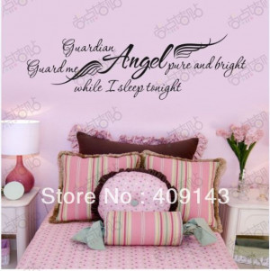 ... Quotes-Stickers-DIY-Bedroom-Decoration-Decor-Wallpaper-Kids-Angel-Wing