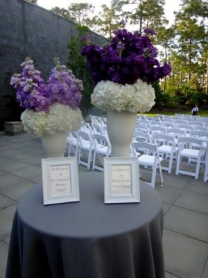 Class Reunion Memorial Table Ideas