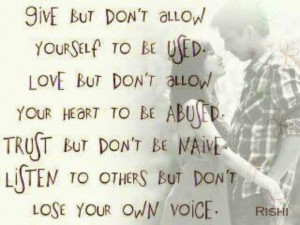 Give...Love...Trust...Listen