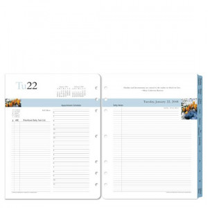 35512 Monarch Leadership Ring-bound Daily Planner Refill - Jan 2010