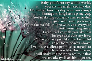 you are my everything baby you form my whole world you are my night ...