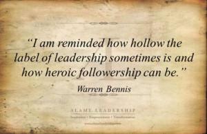 Followership. Warren Bennis