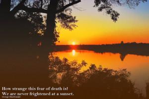 Sunset Inspirational Quote, Fearless Sunset 11x14 Fine Art Print