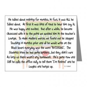 Letter For Teacher Retirement