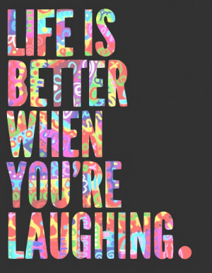 color, laugh, quote