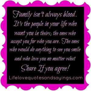 family - no matter what