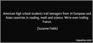 American high school students trail teenagers from 14 European and ...