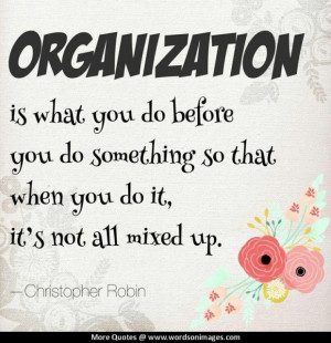 Quotes about organization