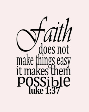 Powerful Bible Verses About Faith | Click here for Luke 1:37 by ...