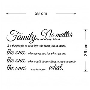 Details about Family Is Not Always Blood Removable Wall Stickers Sweet ...