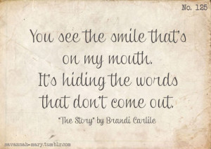 ... the story brandi carlile folk quotes life life quotes words text