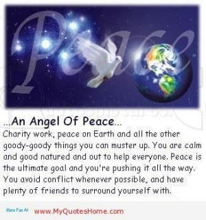 Angel saying, images, quotes | Angel of Peace, Charity work, Peace on ...