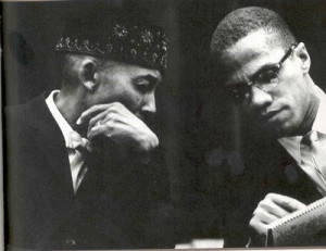 Elijah Muhammad and Malcolm X. Photo by Eve Arnold / Magnum Photos.