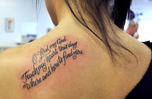 Back to Post :Famous Quote Tattoos for Women