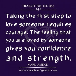 Thought of the day on love courage quotes love quotes 001