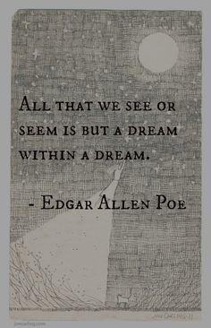 dream edgar allen poe quote more dark quotes quotes lyr edgar allen ...