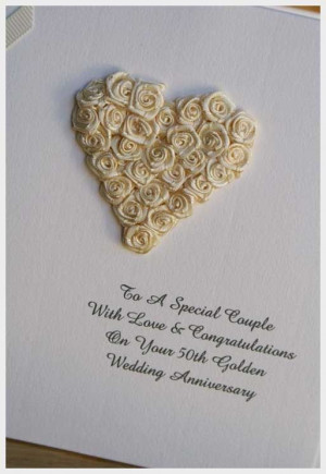 Wedding Ideas, 50th Wedding Anniversary Card: ideas for 50th wedding ...