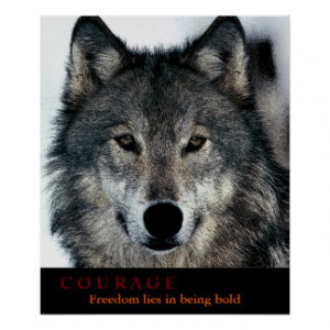 Wolf Motivational Posters & Prints
