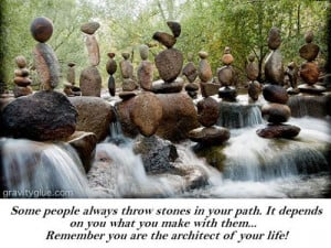 Stone in your path...