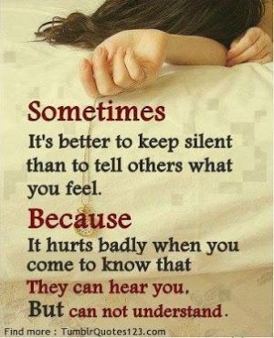 sometimes, it's better to keep silent...