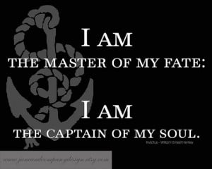 of my FATE, Invictus, William Ernest Henley, Inspirational Quote ...