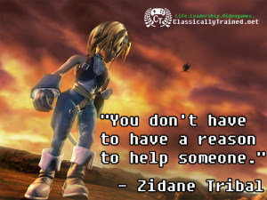 Video Game Quotes: Final Fantasy IX on Helping Others