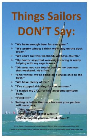 Things sailors don't say - clever poster for sale