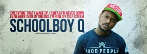 ScHoolboy Q Bet I Got Some Weed Quote Wallpaper