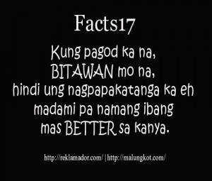 Bitter Tagalog Quotes