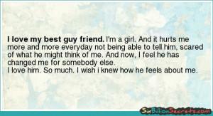Love - I love my best guy friend.