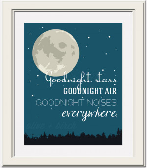 Goodnight Moon Quotes From Book Goodnight moon quote printable