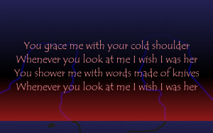 Cold Shoulder - Adele Song Lyric Quote in Text Image