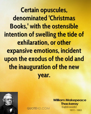 Certain opuscules, denominated 'Christmas Books,' with the ostensible ...