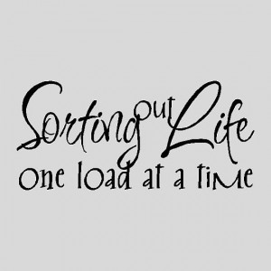 Sorting out life, getting rid of the negativity, the fake people ...
