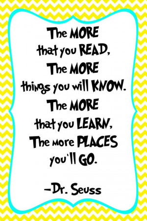 Dr. Seuss Quote Print - Classroom poster or nursery print - digital ...
