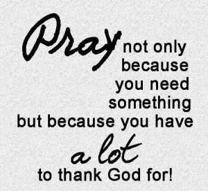 Do you have something to thank God for?