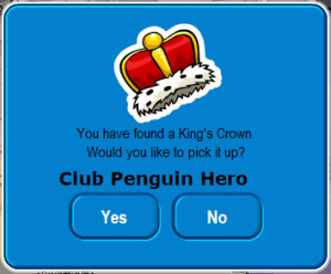 Club Penguin Cheats for New King's Crown Pin!