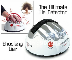 Electric Lie Detector funny Shocking Liar trick toys love/heart beat