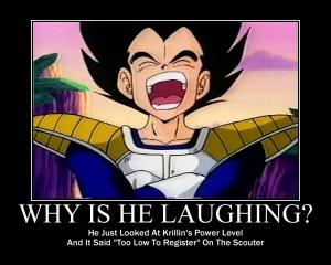 Dragon Ball Z Vegeta Laughing Meme