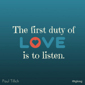 Quote #The importance of listening