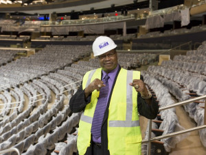 Larry Holmes Visits Madison Square Garden