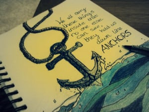 anchor, art, book, inspire, ocean, photography, quote, sea
