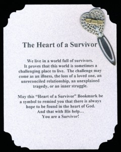 Heart of a Survivor Poem and Bookmark
