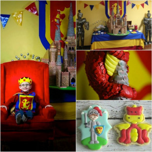 Medieval Knight Castle birthday party with Such Awesome Ideas via Kara ...